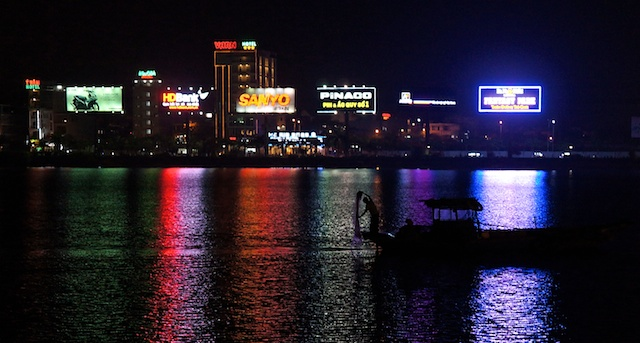 Night fishing - Da Nang waterfront