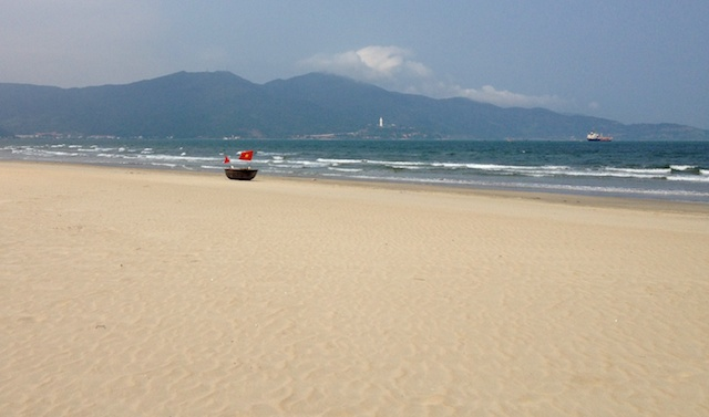 The deserted My Khe (or China) beach