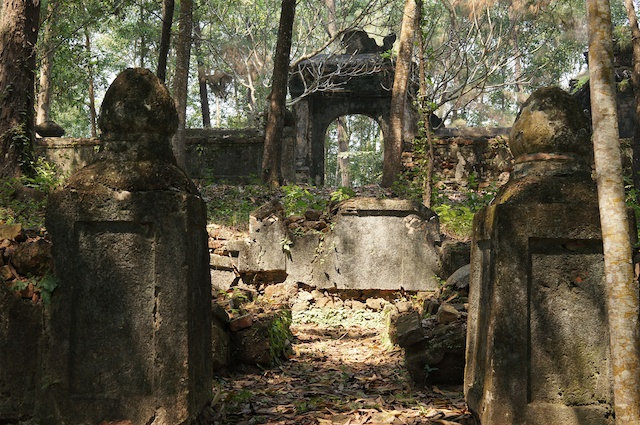 ruins in the temple grounds