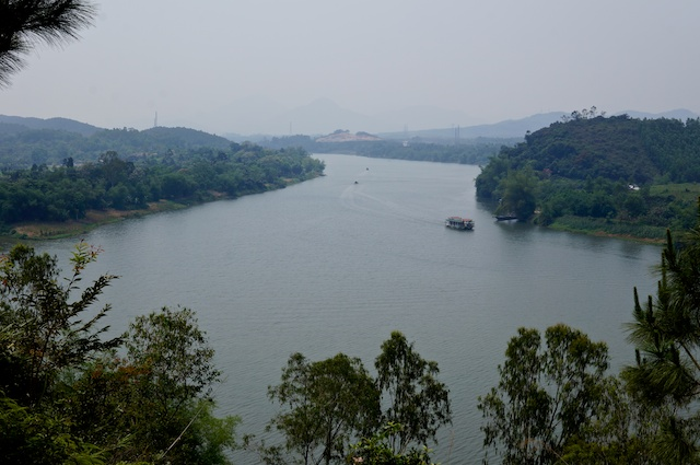 View from old American base near Hue, Vietnam