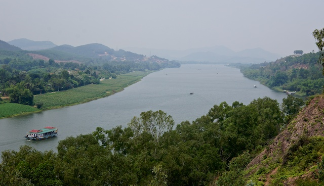 View from old American Army Base just outside Hue, central Vietnam