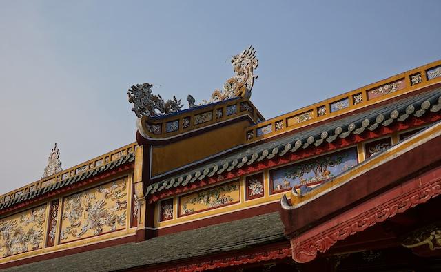 new roof in Citadel Hue Vietnam