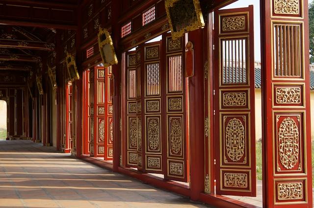 Hue Citadel Vietnam - reconstructed doors