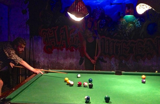 Free pool at Brown Eyes Bar