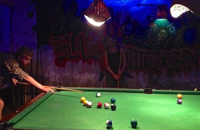 Free pool at Brown Eyes Bar