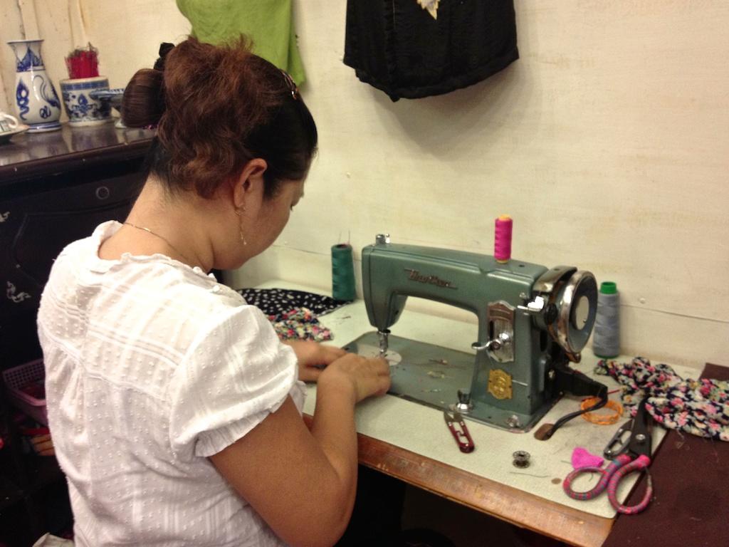 Dressmaker in Hue Vietnam