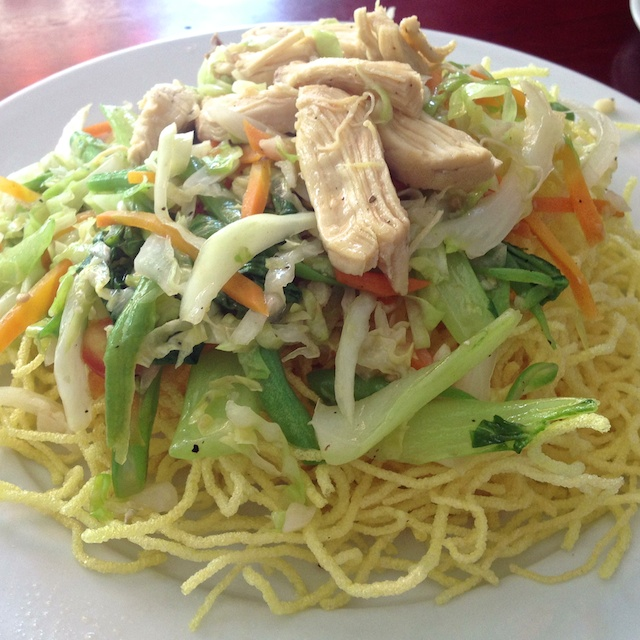 Vietnamese Food - Crispy fried noodles with Chicken