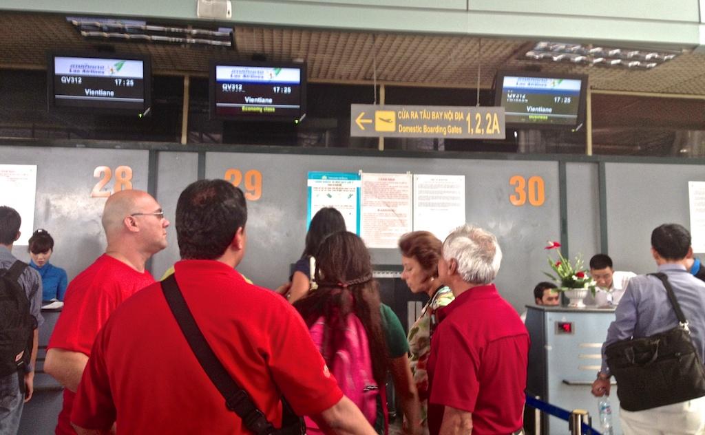 Hanoi International Check In Desk