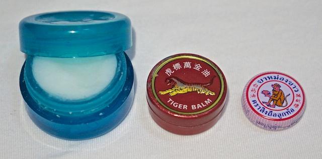 Various herbal rubs in small pos