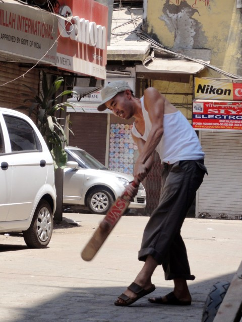 Henry playing cricket in Mumbai