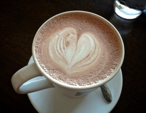 Hot Chocolate with Heart in the Foam