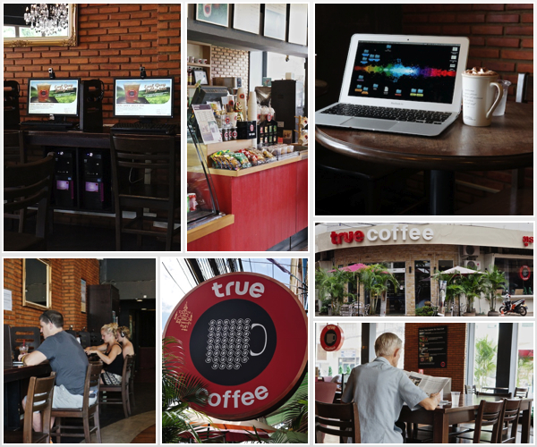 True Coffee Vientiane collage
