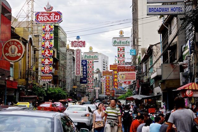 Yarowat Road in Chinatown, Bangkok