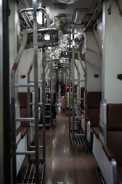 empty Thai train 2nd class sleeper