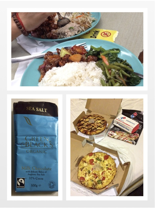 collage of our food on Christmas Day in KL