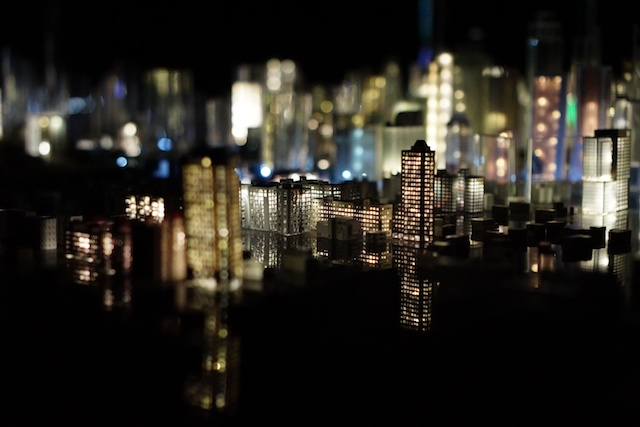 KL city model in night mode