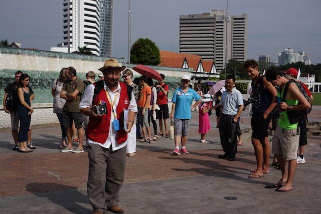 Heritage walking tour in Merdeka Square, Kuala Lumpur