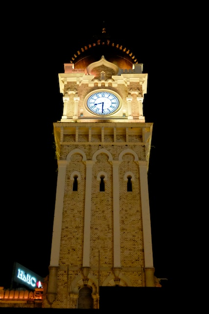 The clock tower on the Sultan Abdul Samad building in KL