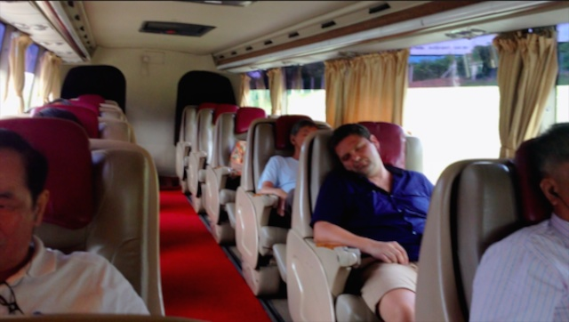 spacious seating on the KL to SIngapore coach - my review