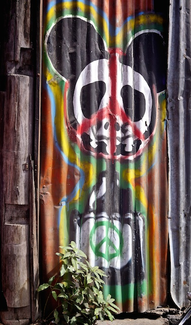 CND mouse street art Chiang Mai