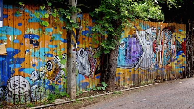 Fish in fish street art Chiang Mai