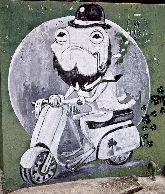 Outside a bar street art Chiang Mai