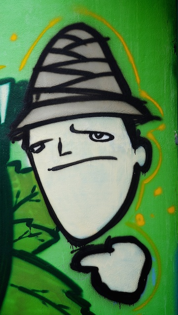 Man in a hat street art Chiang Mai