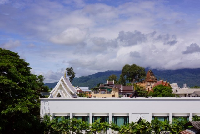 The changing view from our balcony in Chiang Mai