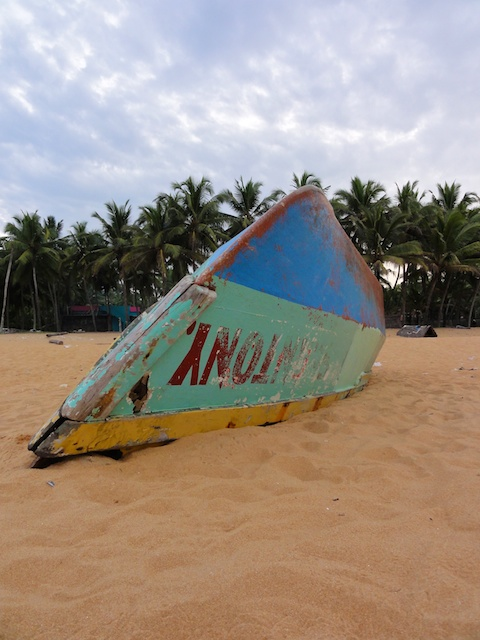 Fishing Boat on Putenthorpe Beach near Trivandrum