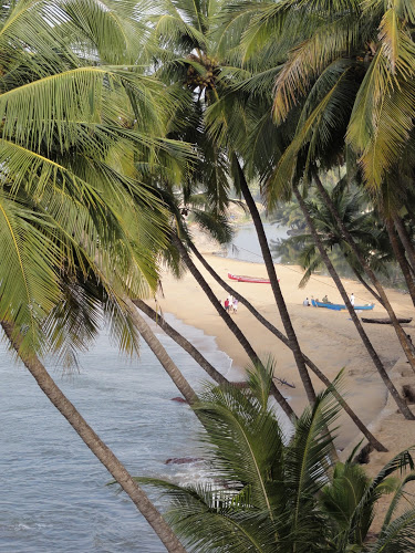 beach outside Kannur in Kerala - Christmas in India