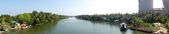 View from the bridge to the Ashram