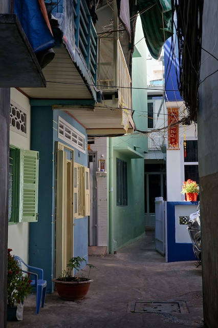 colourful alley district 1 HCMC