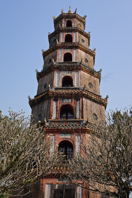 Thien Mu Pagoda in Hue, Vietnam biggest stupa in Vietnam