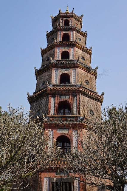 Thien Mu Pagoda in Hue, Vietnam biggest stupa in Vietnam