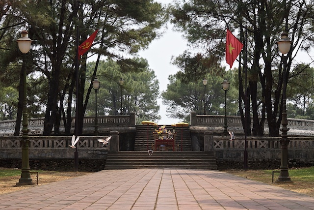 open air pagoda near Hue Vietnam