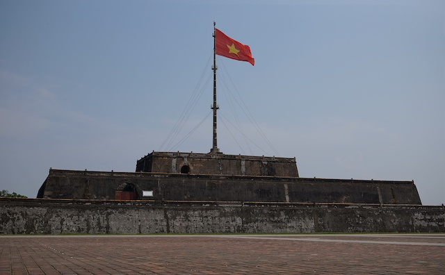 flag pole flag tower Hue, Vietnam