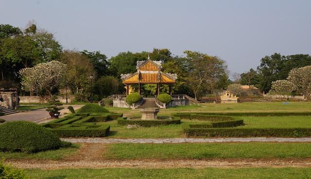 Gardens in Hue Citadel Vietnam