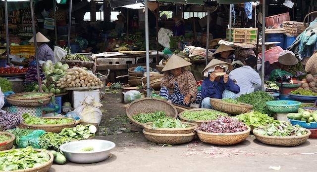 DongBa Market in Hue Vietnam