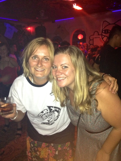 Lucie and Jen in Brown Eyes Birthday free t-shirt
