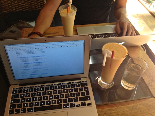 Mango smoothies at Bee Coffee in Hue