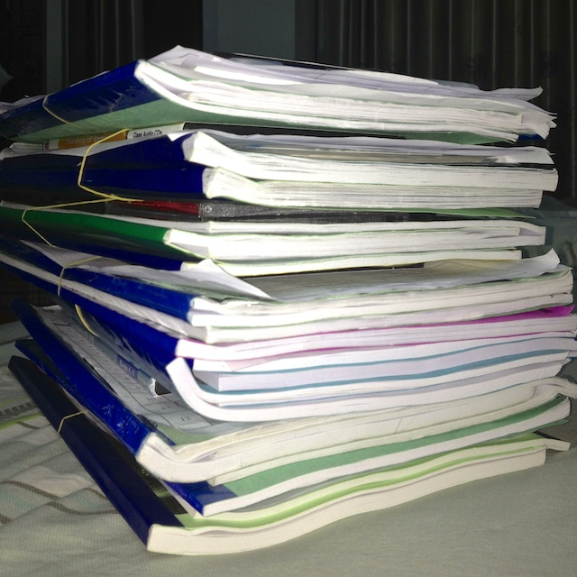 pile of text books