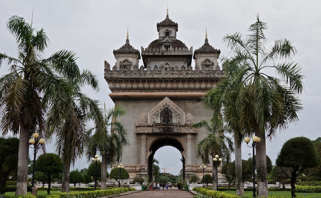 Symbol of Independence from France in Vientiane
