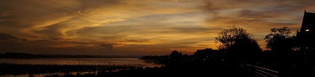 Panoramic sunset in Vietniane