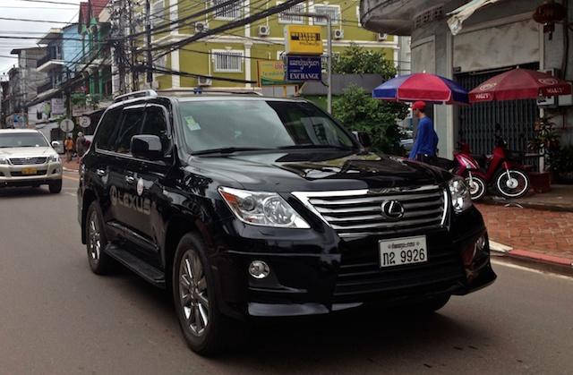 Expensive Lexus in Vientiane