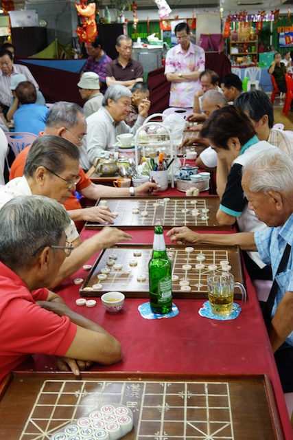 men playing Chinese chess in Bangkok