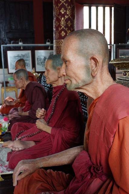 monk models in Wat Phra Singh in Chiang Mai, Thailand
