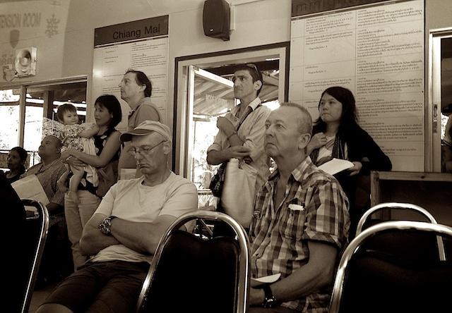 Waiting at Chiang Mai Immigration