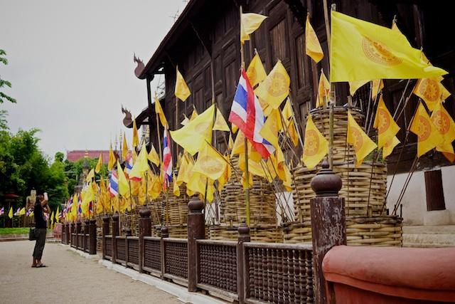 Flags at Wat Phan Tao