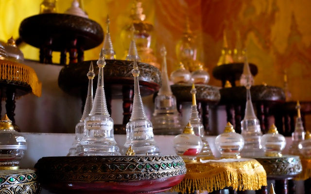 Temples in Chiang Mai Wat Si Supan bottles