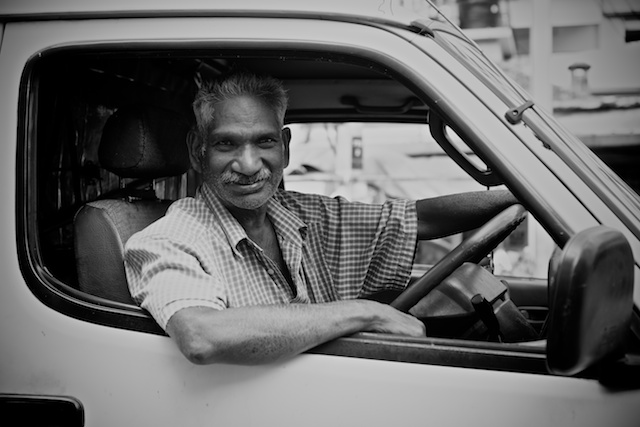 black and white delivery driver in KL